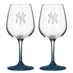 Boelter Brands New York Yankees 12 oz. Wine Glasses 2-Pack - view number 1