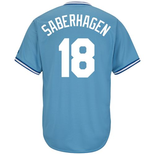 Majestic Men's Kansas City Royals Bret Saberhagen #18 Cooperstown Cool Base Replica Jersey