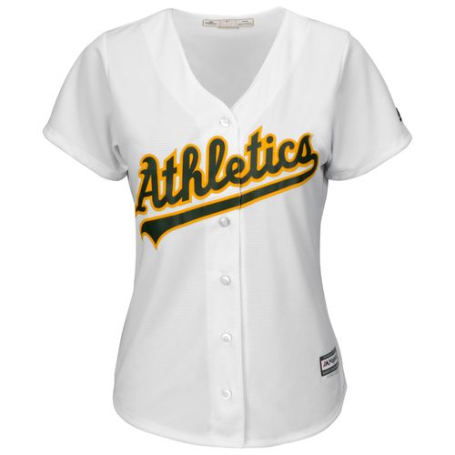 Majestic Women's Oakland Athletics Cool Base® Replica Home Jersey