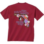 New World Graphics Women's Florida State University Bright Plaid T-shirt