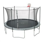 Jump Zone™ 15' Round Trampoline with DunkZone Basketball Hoop & Spinner Flash LiteZone - view number 1