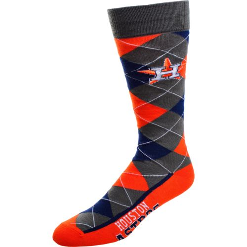 FBF Originals Men's Houston Astros Argyle Zoom Dress Socks