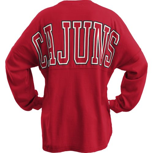 Three Squared Juniors' University of Louisiana at Lafayette Big Time Outline Sweeper T-shirt