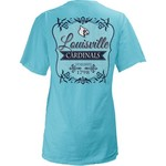 Three Squared Juniors' University of Louisville Flora T-shirt