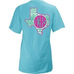 Three Squared Juniors' Baylor University Moonface Vee T-shirt