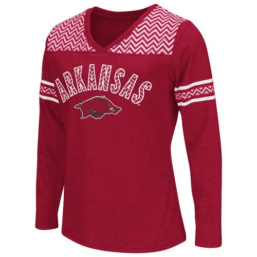 Colosseum Athletics™ Girls' University of Arkansas Cupie Long Sleeve T-shirt
