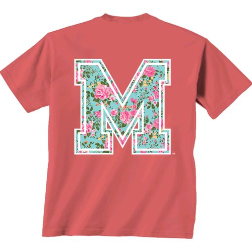 New World Graphics Women's University of Memphis Floral T-shirt