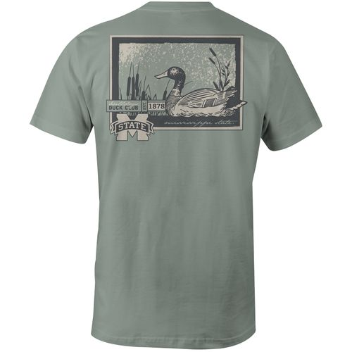 Image One Men's Mississippi State University Duck Scene Comfort Color T-shirt