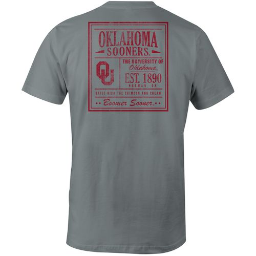 Image One Men's University of Oklahoma Comfort Color Vintage Poster Short Sleeve T-shirt