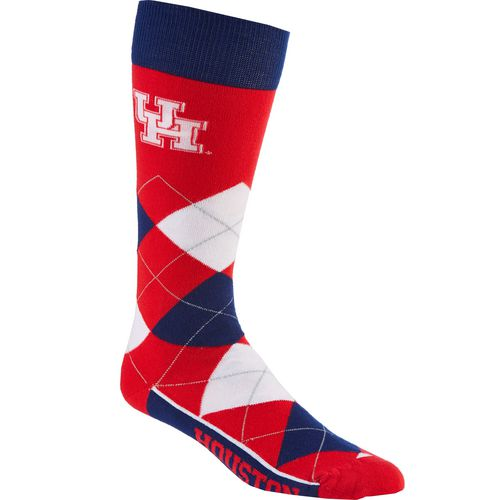 For Bare Feet Unisex University of Houston Team Pride Flag Top Dress Socks