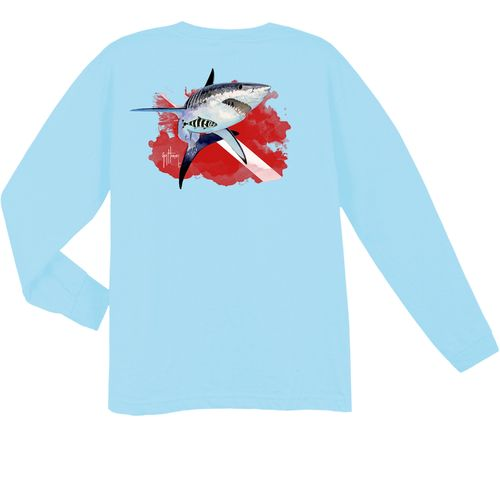Guy Harvey Kids' White Fright T-shirt