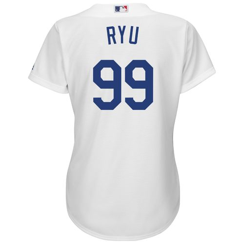 Majestic Women's Los Angeles Dodgers Hyun-jin Ryu #99 Authentic Cool Base Jersey