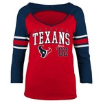 5th & Ocean Clothing Juniors' Houston Texans Established 3/4 Sleeve T-shirt