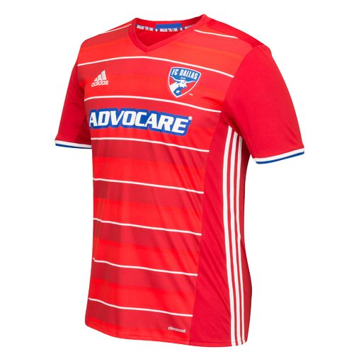 adidas Adults' FC Dallas Replica Short Sleeve Jersey - view number 1