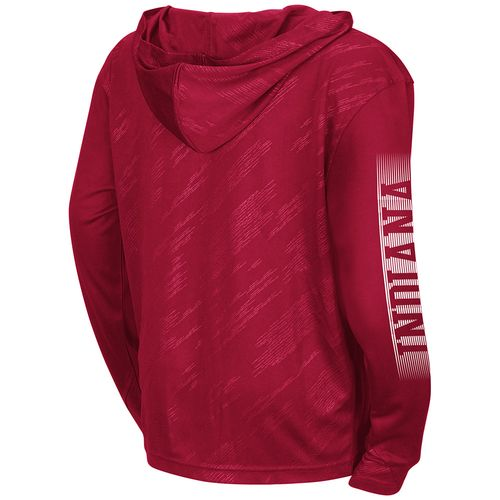 Colosseum Athletics™ Boys' Indiana University Sleet 1/4 Zip Hoodie Windshirt - view number 2