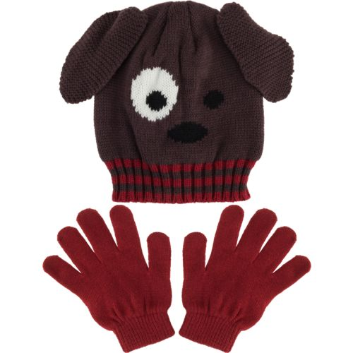 Magellan Outdoors™ Boys' Puppy Critter Hat and Gloves Set