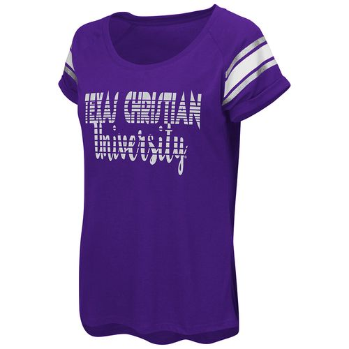 Colosseum Athletics™ Women's Texas Christian University Karate Cuffed Raglan T-shirt
