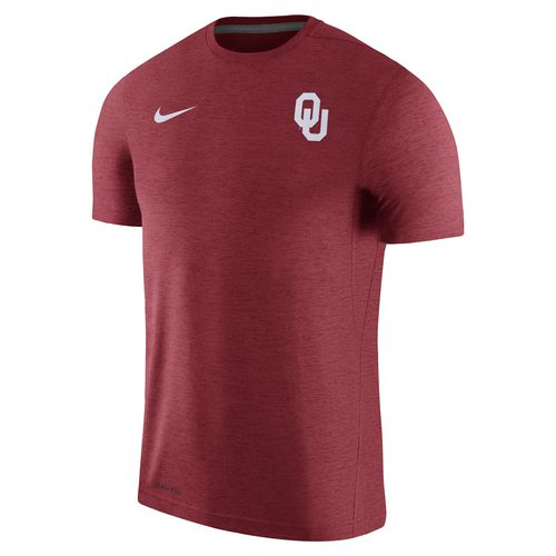 Nike Men's University of Oklahoma Dry Top Coaches Short Sleeve T-shirt