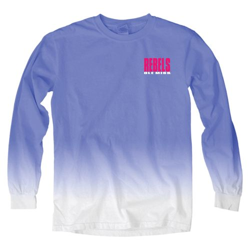 Blue 84 Women's University of Mississippi Ombré Long Sleeve Shirt - view number 2