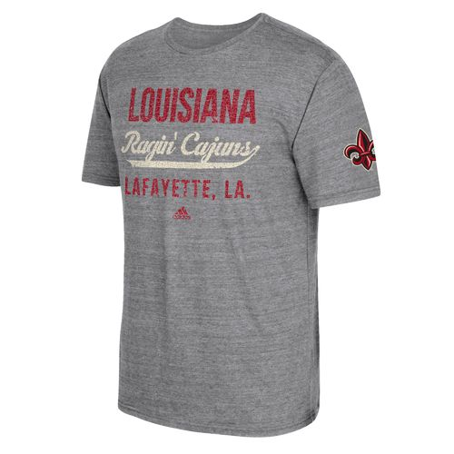 adidas Men's University of Louisiana at Lafayette Stenciled Sweep T-shirt - view number 1