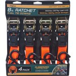 CargoLoc 8' Hi-Viz Ratchet Tie-Downs 4-Pack - view number 1