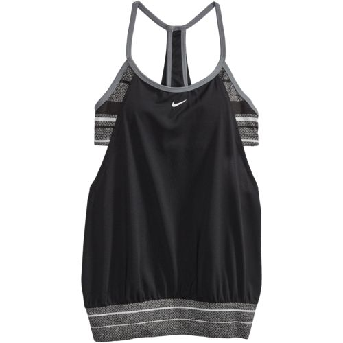 Nike Women's Filtered Stripe Sport Tankini Swim Top