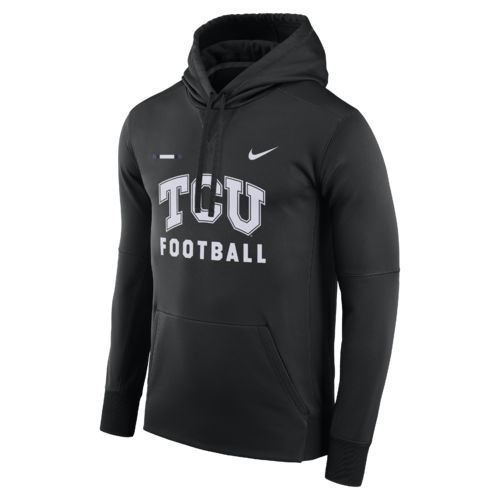 Nike Men's Texas Christian University Therma-FIT Pullover Hoodie