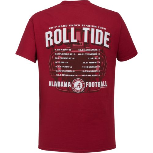 New World Graphics Men's University of Alabama Football Schedule '17 T-shirt