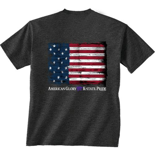 New World Graphics Men's Kansas State University Flag Glory T-shirt