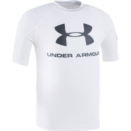 Under Armour Boys' Short Sleeve Rash Guard