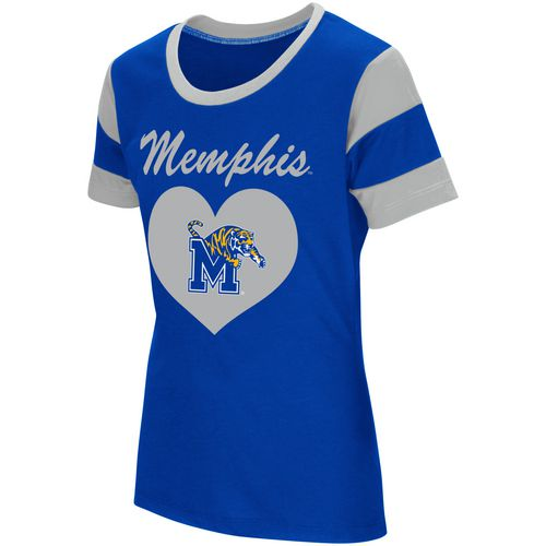 Colosseum Athletics Girls' University of Memphis Bronze Medal Short Sleeve T-shirt - view number 1