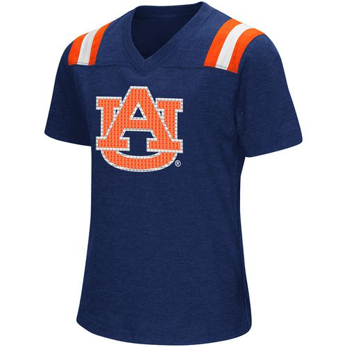 Colosseum Athletics Girls' Auburn University Rugby Short Sleeve T-shirt