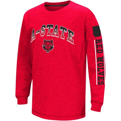 Colosseum Athletics Boys' Arkansas State University Grandstand Long Sleeve T-shirt