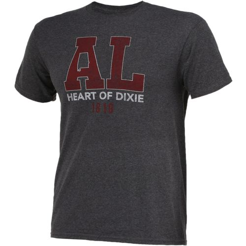 State Love Men's Alabama Heart of Dixie Short Sleeve T-shirt - view number 3