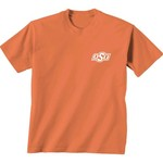 New World Graphics Women's Oklahoma State University Comfort Color Initial Pattern T-shirt - view number 2