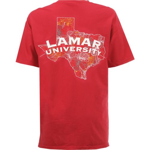 New World Graphics Women's Lamar University Comfort Color Puff Arch T-shirt