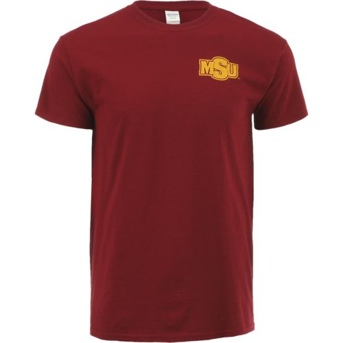 New World Graphics Men's Midwestern State University Stripe Nation T-shirt