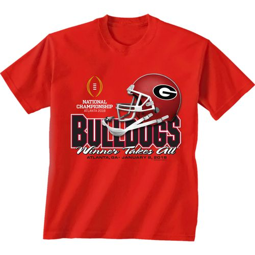 New World Graphics Men's University of Georgia 2018 CFP Winner Takes All T-Shirt