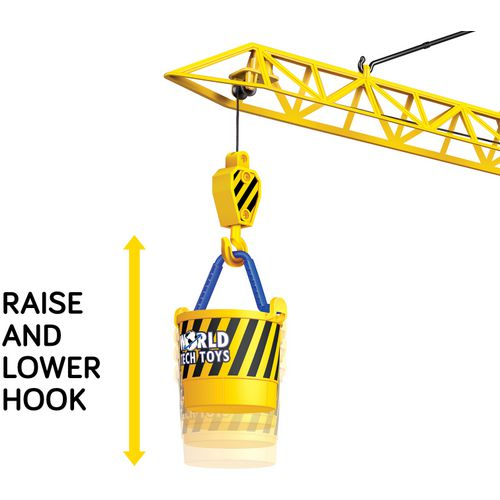 World Tech Toys Big Kids' Construction 4 ft Motorized RC Crane - view number 4