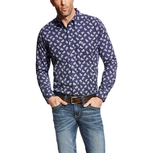 Ariat Men's Duval Print Long Sleeve Button-Down Shirt