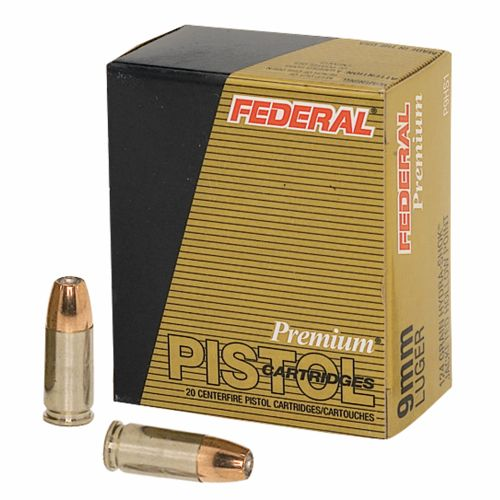 Federal Premium® Personal Defense® Hydra-Shok® JHP 9mm Luger 124-Grain Handgun Ammuni