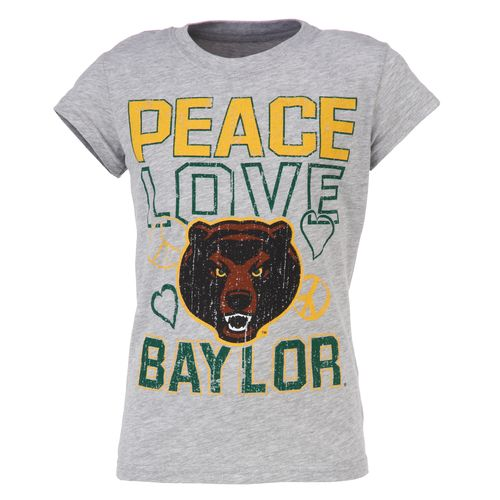 Soffe Girls' Baylor University Short Sleeve Tissue T-shirt