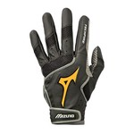 Mizuno Adults' Power Grip Palm Batting Gloves