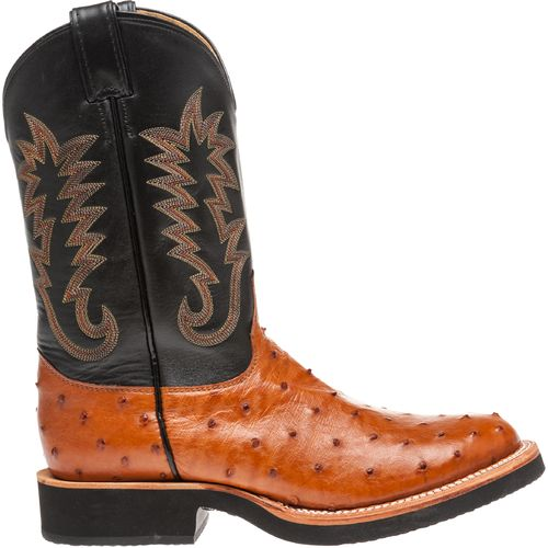 Justin Men's Exotics Full-Quill Ostrich Western Boots - view number 1