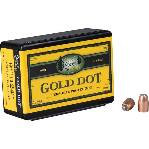 Display product reviews for Speer® Gold Dot .38 Auto/.380/9mm Luger 124-Grain Hollow-Point Bullets