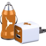 Mizco University of Texas Home and Away USB Chargers 2-Pack