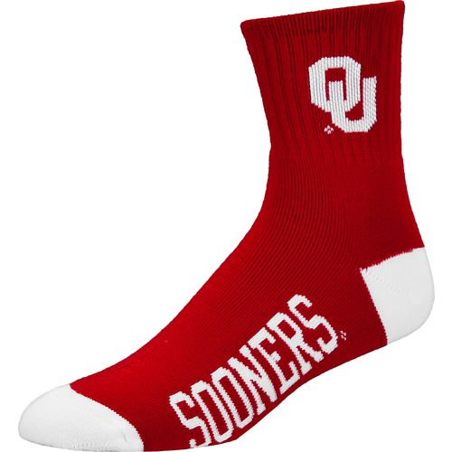 For Bare Feet Men's University of Oklahoma Team Color Quarter Socks
