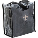 Little Earth Productions New Orleans Saints Clear Convertible Square Tote Bag