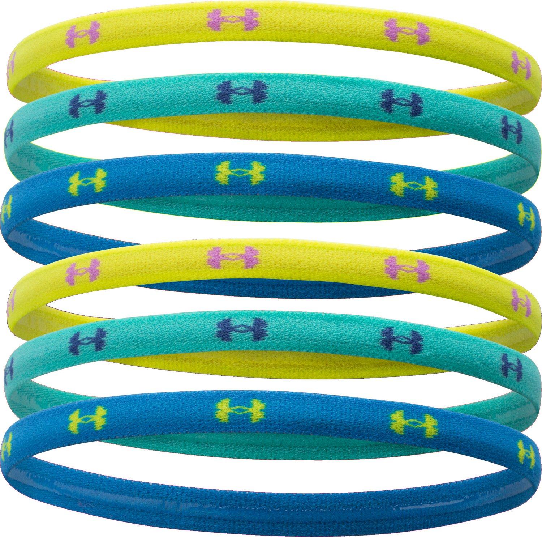 Under Armour® Girls' UA Mini Headbands 6-Pack