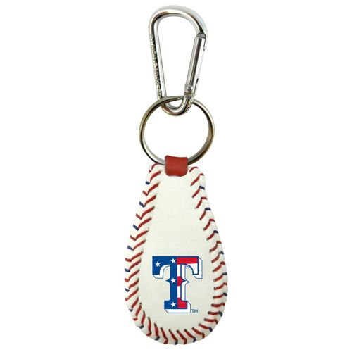 GameWear Texas Rangers Stars and Stripes Classic Baseball Keychain